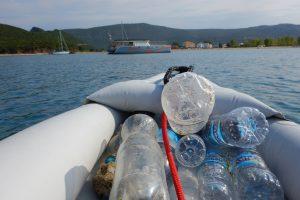 Plastikmüll gesammelt auf dem Acheron
